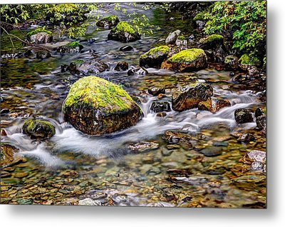 Metal Print featuring the photograph Stream Hdr by Joe Urbz