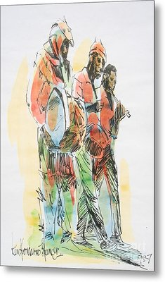 Street Band Metal Print by Carey Chen