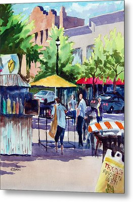 Street Fare Metal Print by Ron Stephens