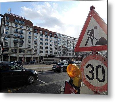 Street In Berlin Metal Print by Chung Chui Leung