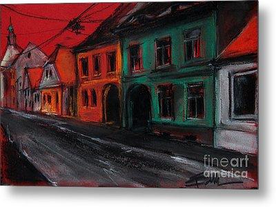 Street In Transylvania 1 Metal Print by Mona Edulesco