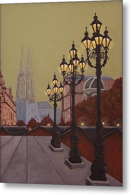 Street Lamps Metal Print by Jennifer Lynch
