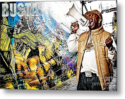 Street Phenomenon Busta Metal Print by The DigArtisT
