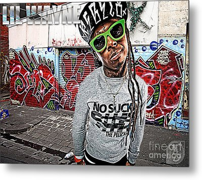 Street Phenomenon Lil Wayne Metal Print by The DigArtisT