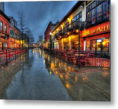 Street Reflections Metal Print by Andre Faubert