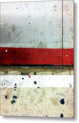 Streets Of New York Abstract Eight Metal Print by Marlene Burns