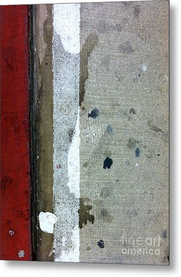 Streets Of New York Abstract Twelve Metal Print by Marlene Burns