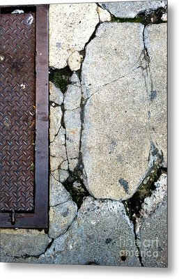 Streets Of New York Abstract Two Metal Print by Marlene Burns