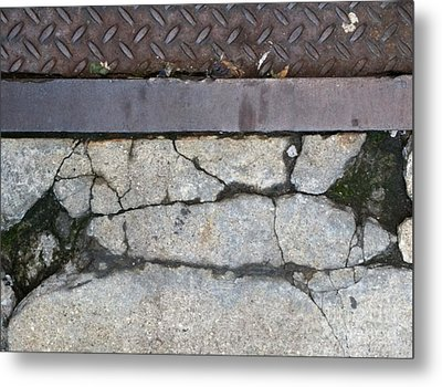 Streets Of Ny Abstract Three Metal Print by Marlene Burns
