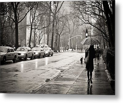Streets Slick With Promise - Greenwich Village Metal Print