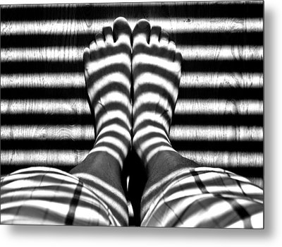 Stripe Socks? Metal Print by David Pantuso