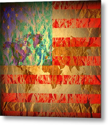 Stripes And Stars  Metal Print by Jerry Cordeiro