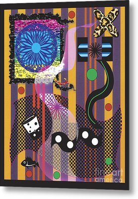 Metal Print featuring the digital art Stripes Design by Christine Perry