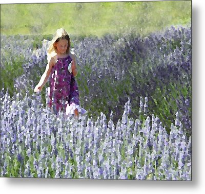 Metal Print featuring the photograph Stroll Through The Lavender by Brooke T Ryan
