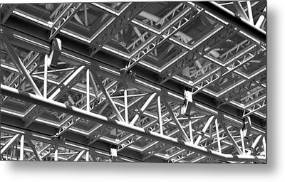 Structural Network Metal Print