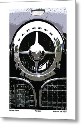Studebaker American Chrome Metal Print by Kenneth De Tore