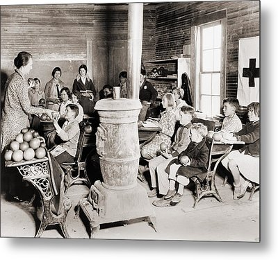 Students In A One-room School Metal Print by Everett