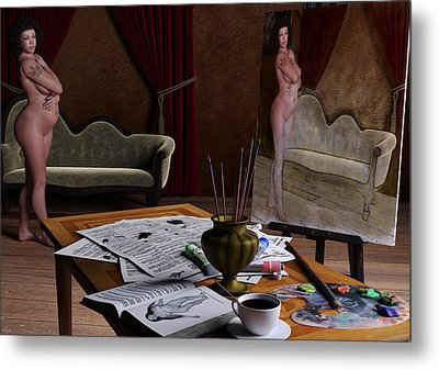 Studio Life Metal Print by Maynard Ellis