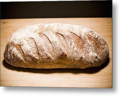 Studio Shot Of Loaf Of Bread Metal Print by Kristin Lee