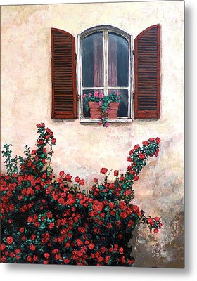 Metal Print featuring the painting Studio Window by Tom Roderick