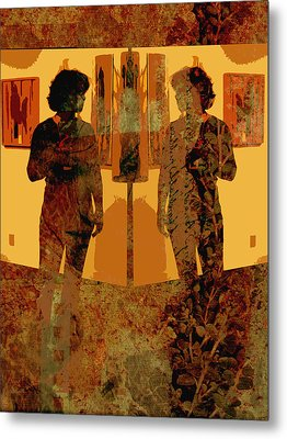 Study In Yellow Metal Print by Ann Powell