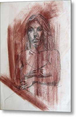 Study Of A Woman Metal Print