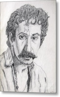 Study Of Jim Croce Metal Print by Julie Coughlin