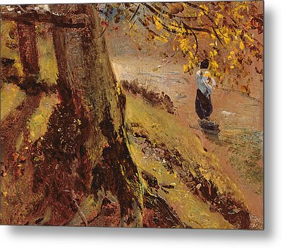 Study Of Tree Trunks Metal Print by John Constable