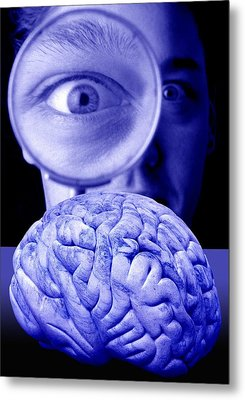 Studying The Brain, Conceptual Image Metal Print by Victor De Schwanberg
