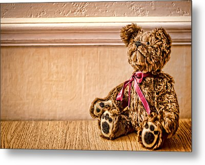 Stuffed Friend Metal Print by Heather Applegate