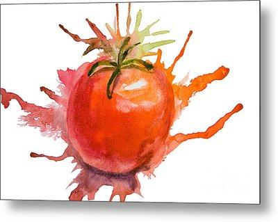 Stylized Illustration Of Tomato Metal Print