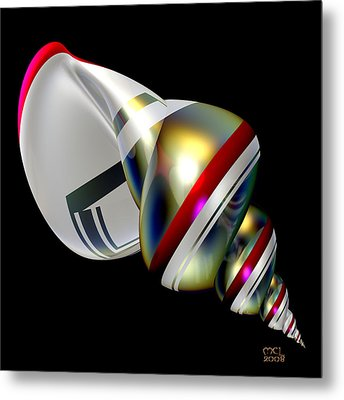 Metal Print featuring the digital art Sublime Shell by Manny Lorenzo