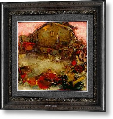 Metal Print featuring the painting Suburbs by Pemaro