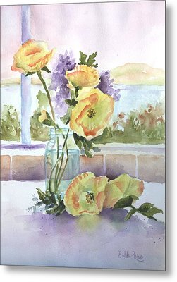 Sue's Poppies Metal Print by Bobbi Price