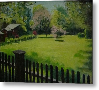 Sue's Yard Metal Print by Mark Haley
