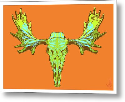 Sugar Moose Metal Print by Nelson Dedos Garcia