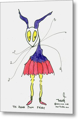 Sugar Plum Fairy Metal Print by Tis Art