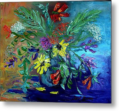 Metal Print featuring the painting Summer Bouquet by Carol Berning