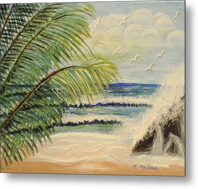 Summer Breeze Metal Print by Maria Medina