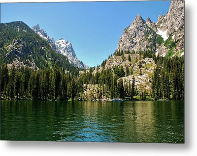 Metal Print featuring the photograph Summer Day At Jenny Lake by Dany Lison