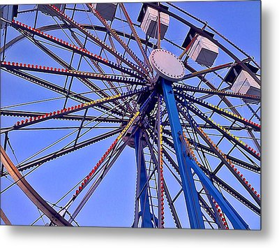 Summer Festival Ferris Wheel Metal Print