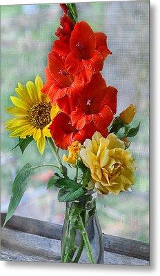 Summer Floral Metal Print by Debbie Portwood