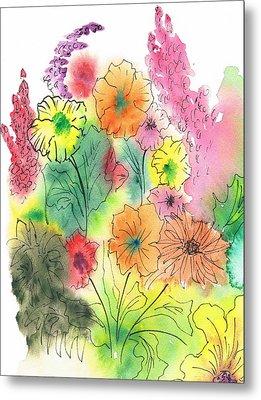 Summer Garden Metal Print by Christine Crawford