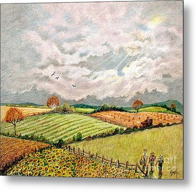 Summer Harvest Metal Print by Marilyn Smith