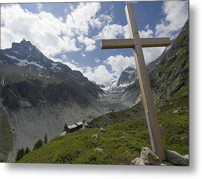 Summer In The Mountains. The Cross Metal Print by Axiom Photographic