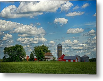 Summer Iowa Farm Metal Print by Bill Tiepelman