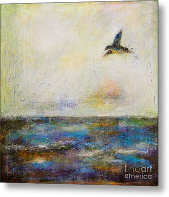 Summer Series The Fog Is Setting In Metal Print by Johane Amirault