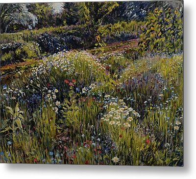 Metal Print featuring the painting Summer Splendor by Steve Spencer