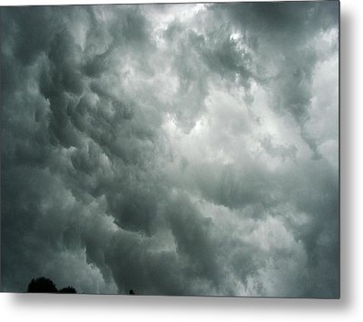 Summer Storm Clouds Metal Print by Marian Hebert