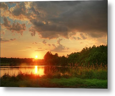 Metal Print featuring the photograph Summer Sunset On Empire by Mary Hershberger
